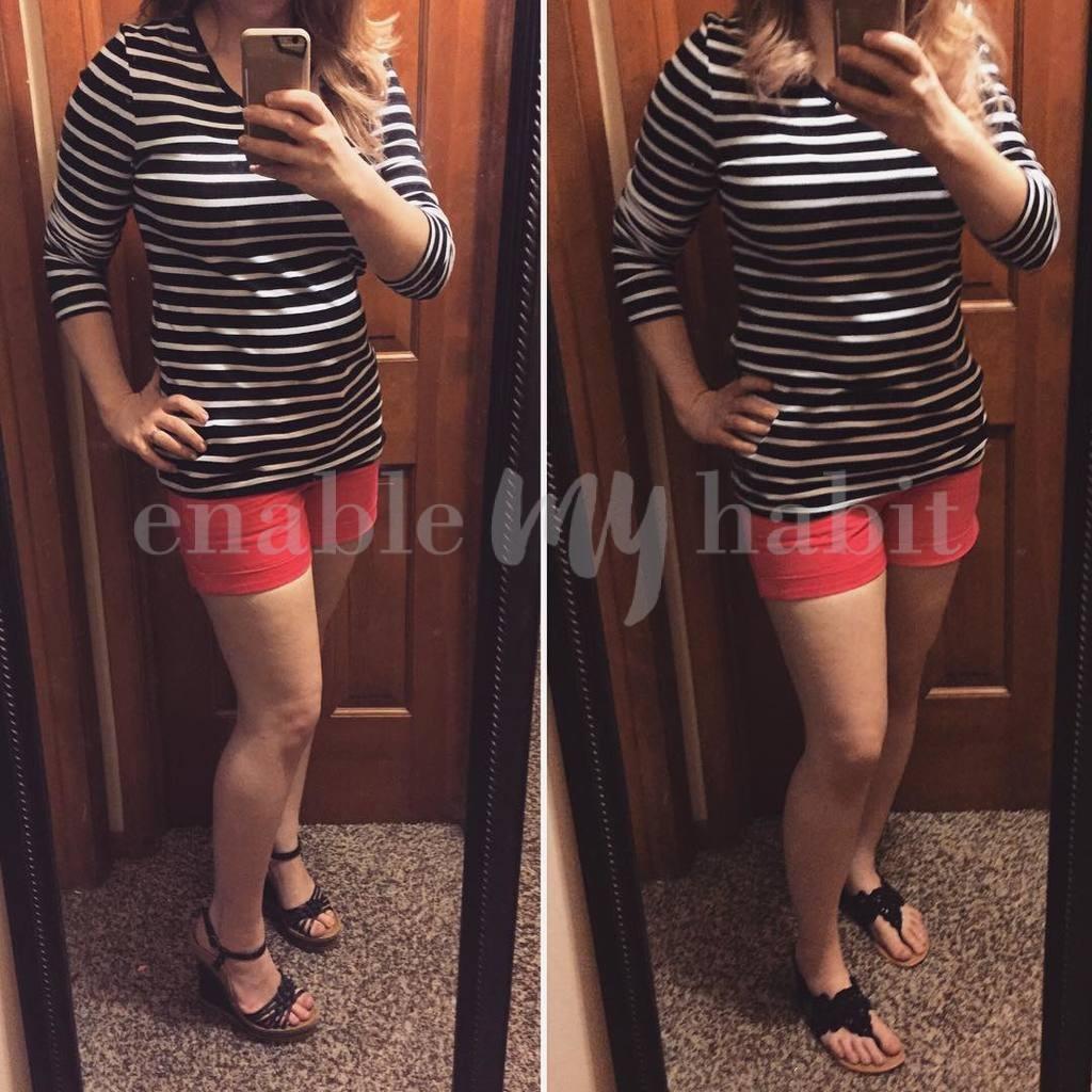 Hot Pink Shorts & Stripes!