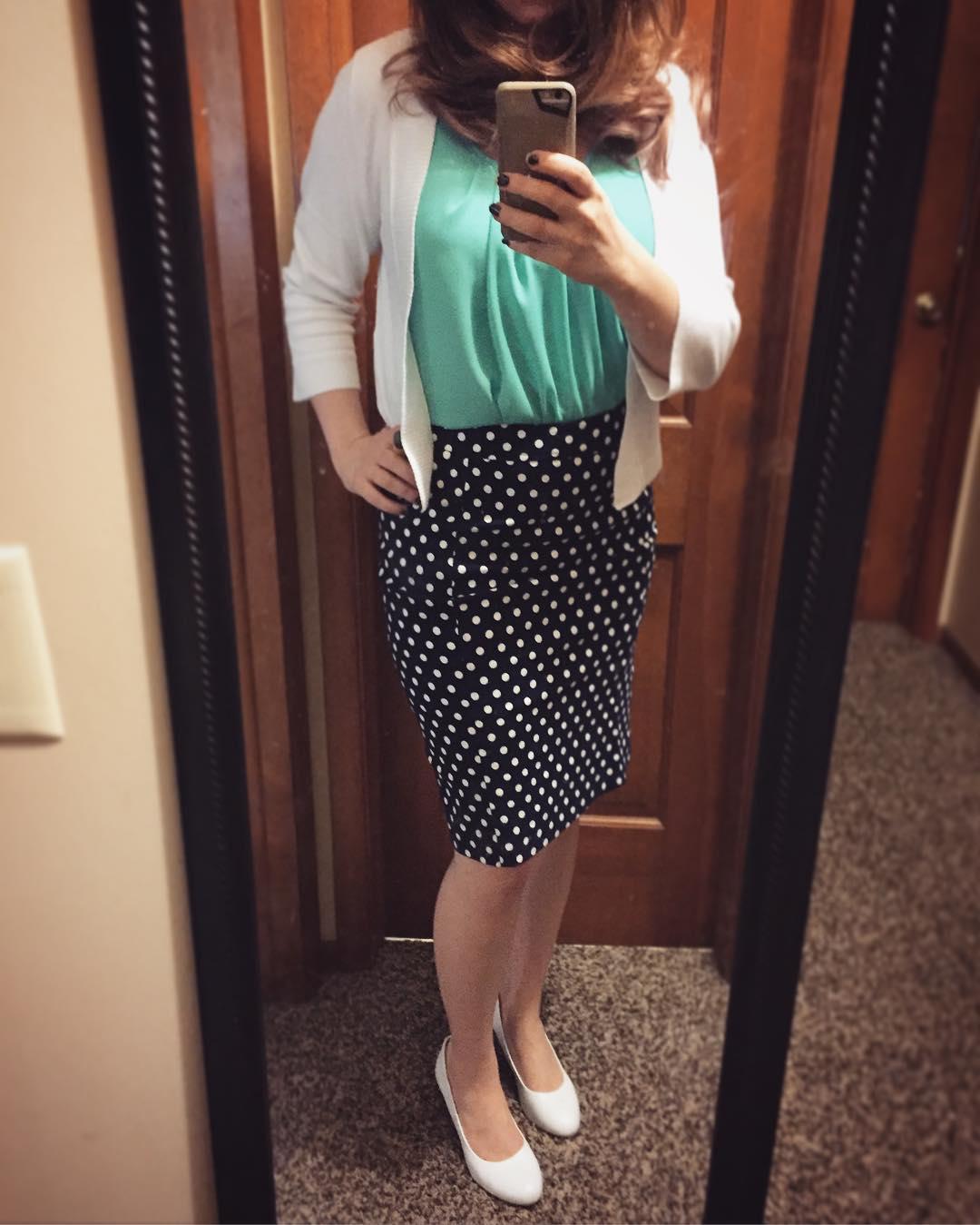 Pixley June Polka Dot Skirt + Mint Green