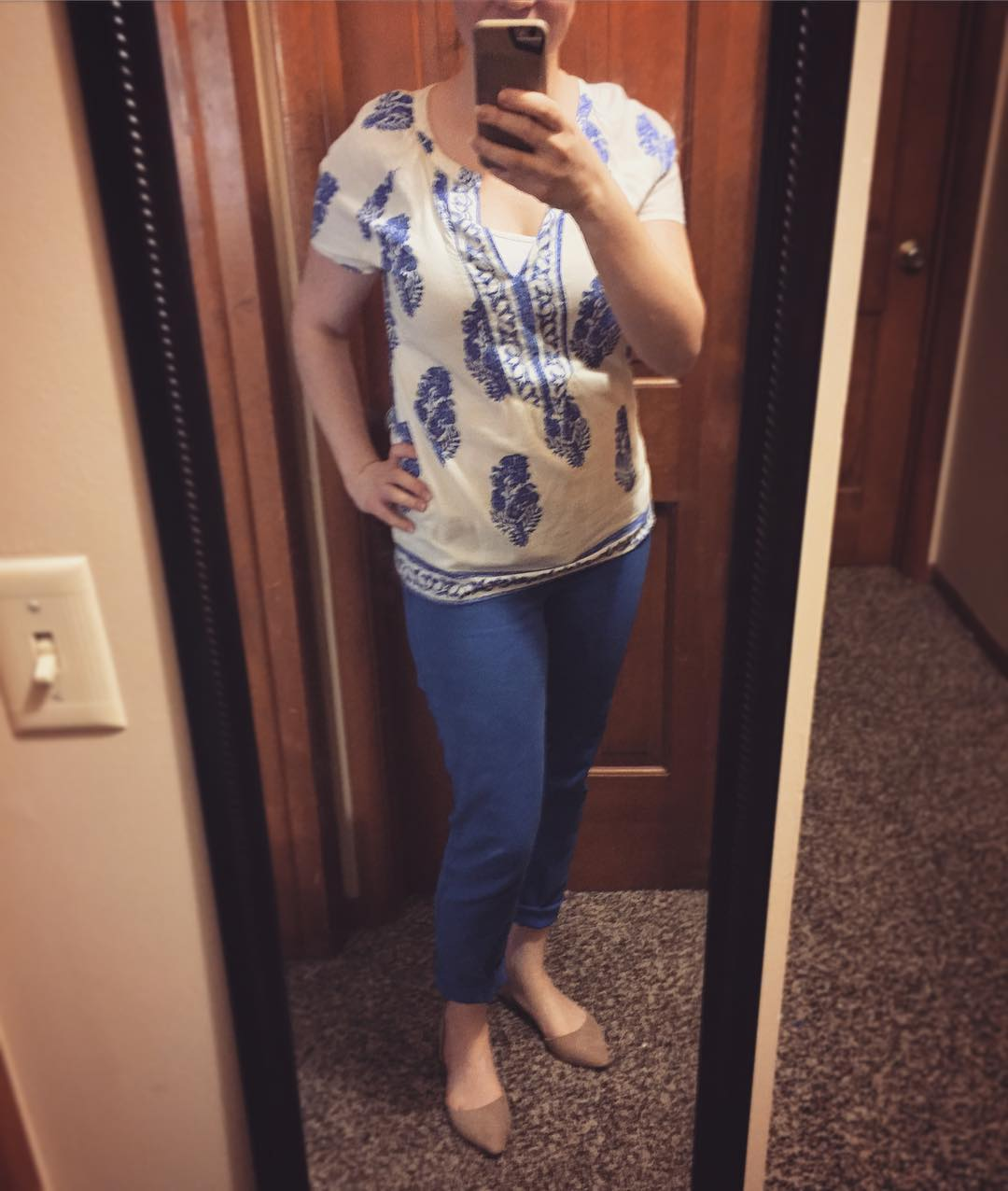 Stitch Fix top for less! Love Facebook BST groups :)