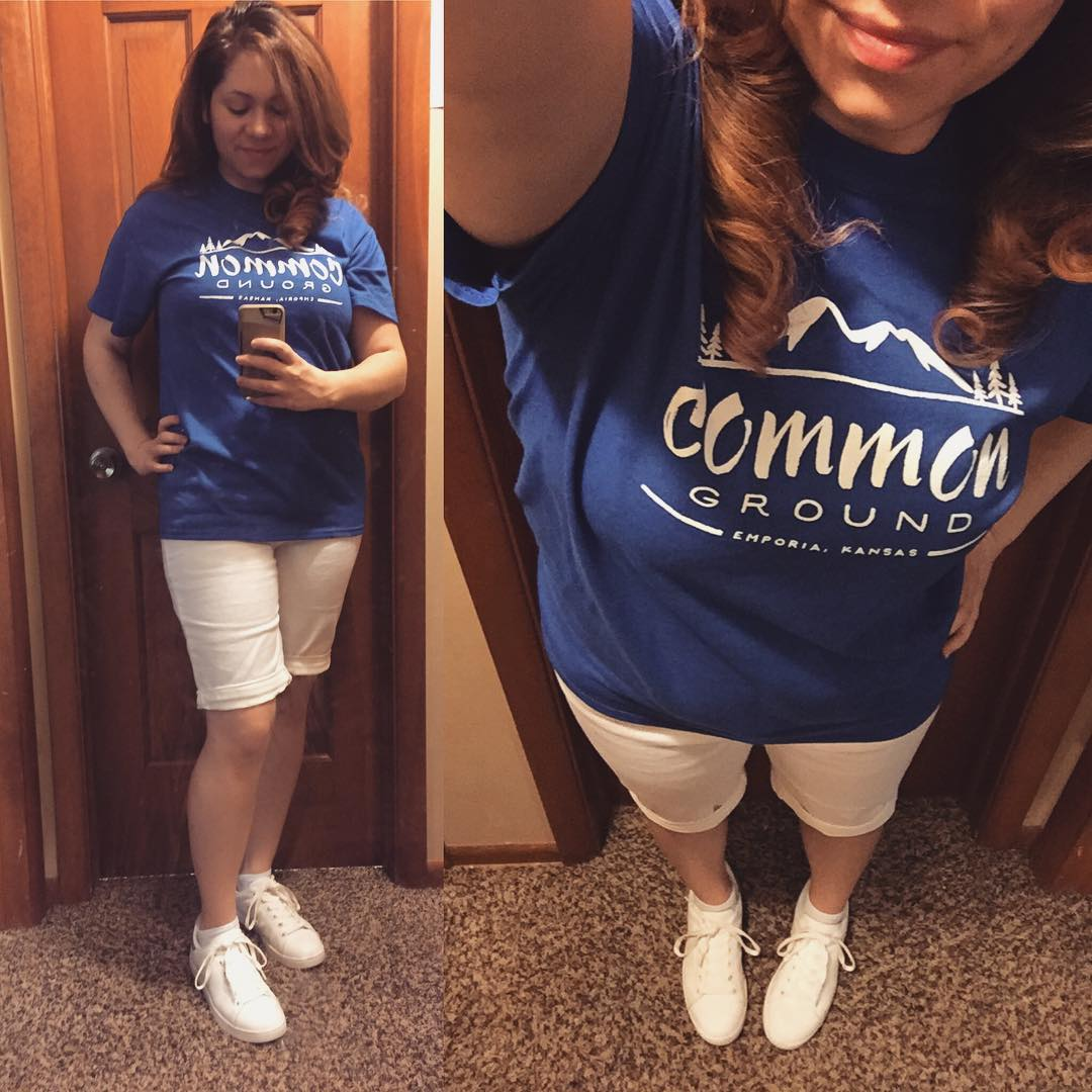 Casual OOTD: Custom T-Shirt Design + White Shorts