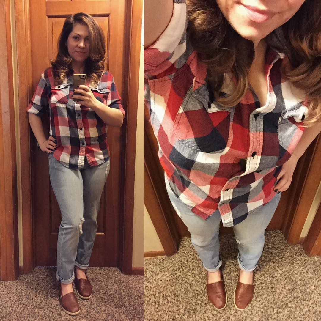 TOMs with a Side of Plaid: Lumberjacked Style Challenge