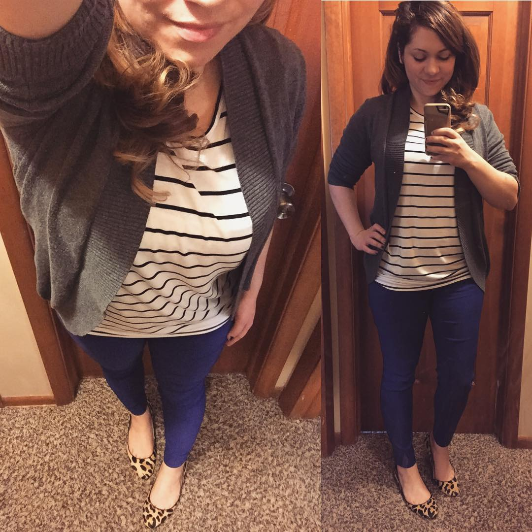 Rekucci Ankle Pants + Stripes for the Office