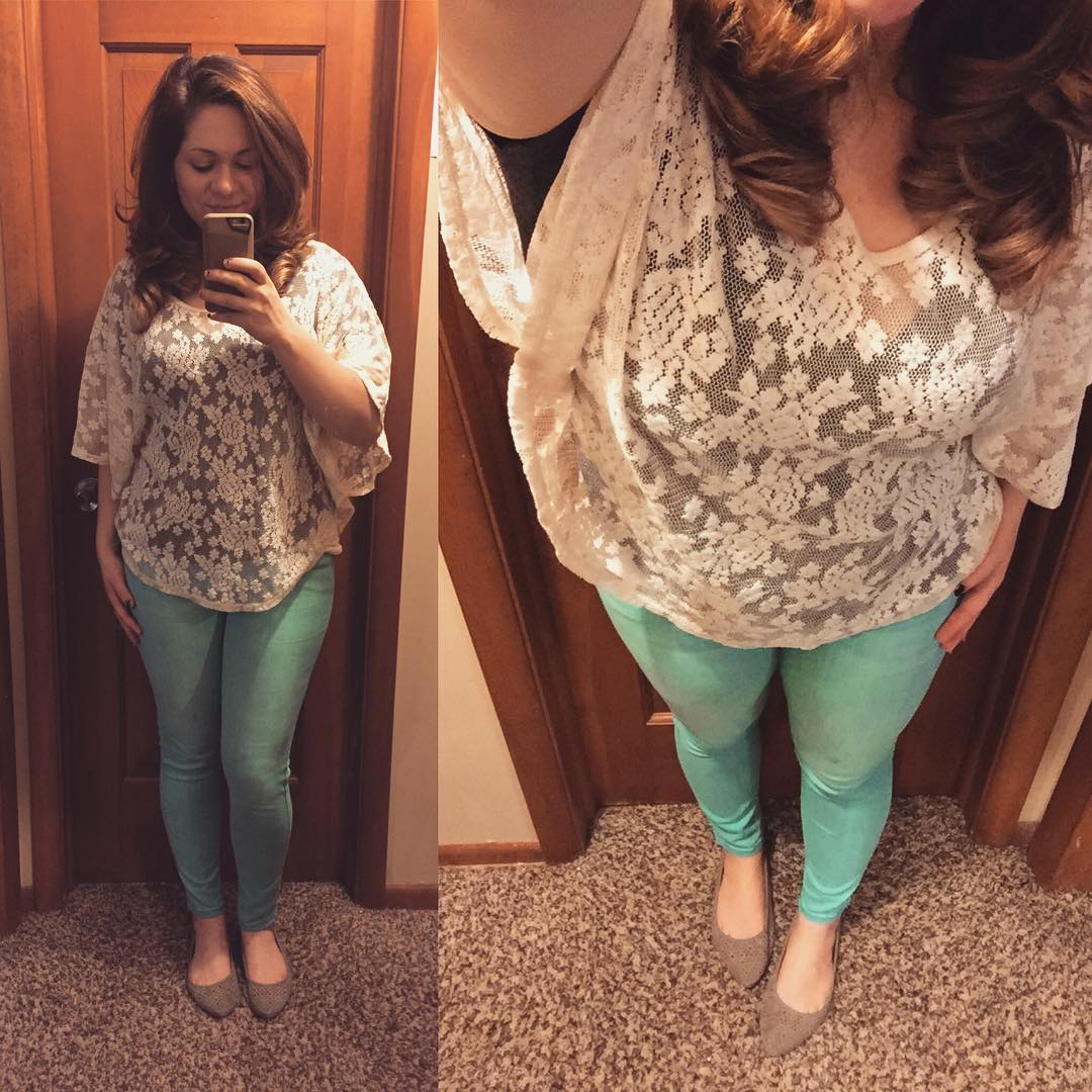 Lace & Turquoise Skinnies
