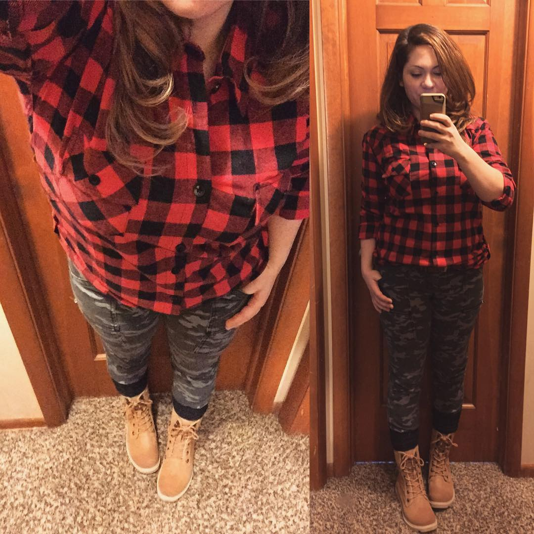 Fall Style: Trying Plaid + Camo Skinnies + Boots