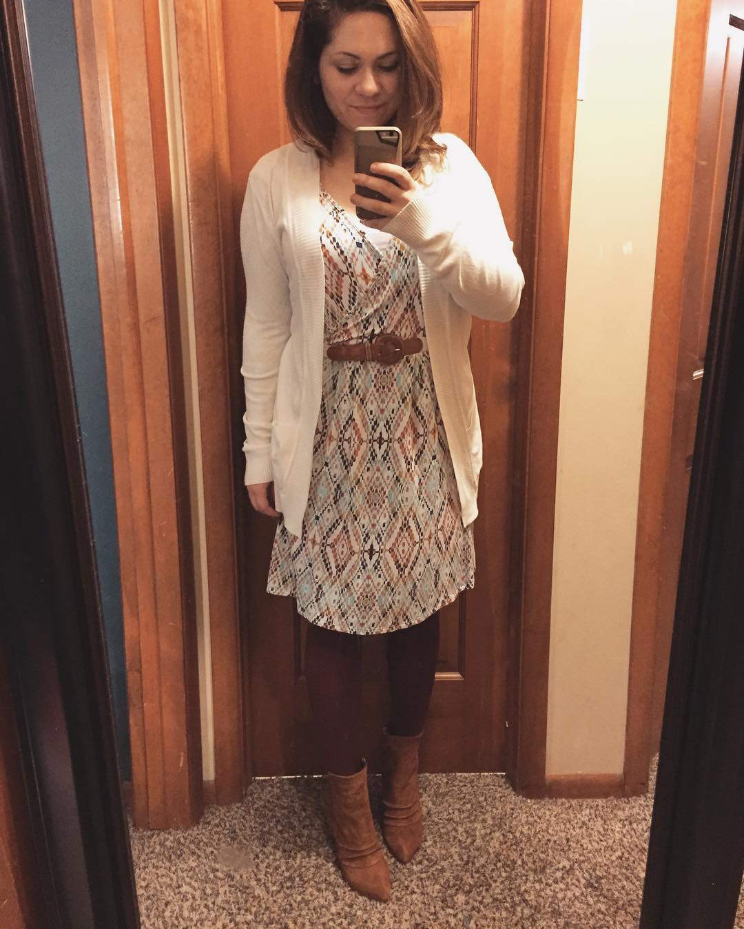 Fall Style: Stitch Fix Market & Spruce O'Hara Wrap Dress + Ivory Cardi