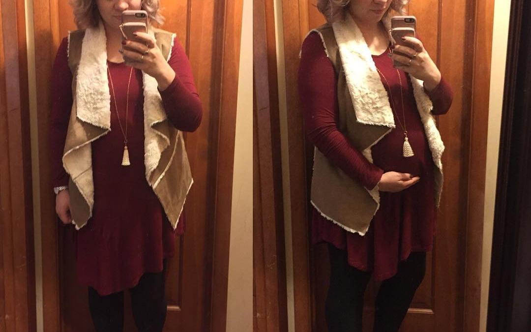 Fall Style: Shearling Vest + Swing Dress FTW!