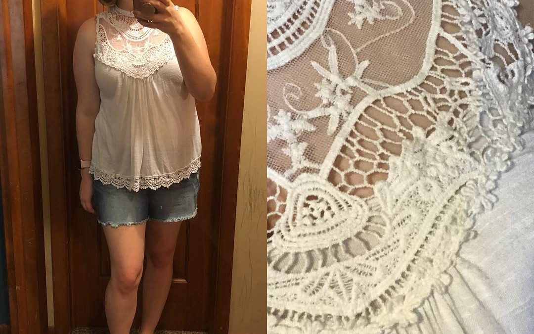 Summer Style: Lace & Shorts with Blowfish Sandals